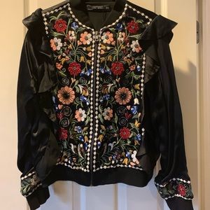 Zara faux silk jacket